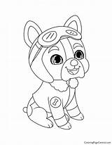 Coloring Whisker Haven Patrol Paw Pilot Pony Sheets Rocky sketch template