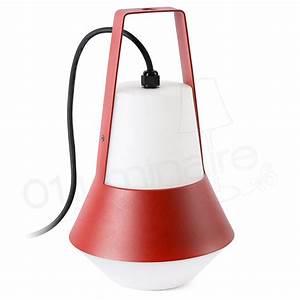 Lampe De Table Exterieur : lampe portative ext rieure cat rouge 1 lumi re e27 20w faro ~ Teatrodelosmanantiales.com Idées de Décoration