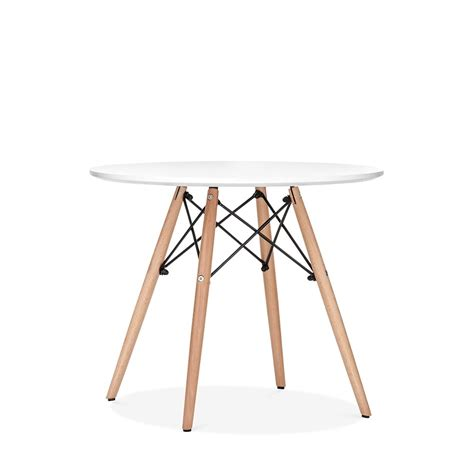 table ronde et chaises eames inspired dsw white table dsw dining tables cult