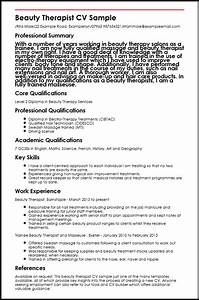 beauty therapist cv sample myperfectcv With cosmetology resume samples