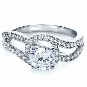 Diamond split shank engagement ring 1260 for Split shank engagement ring with wedding band