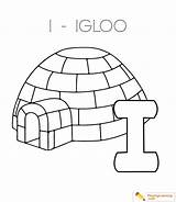 Coloring Igloo Alphabet Letter Pages Printable Sheet Template Through Date Playinglearning sketch template
