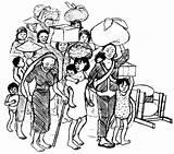 Refugees Drawing Walking Hesperian Sketch Coloring Larger Credit sketch template