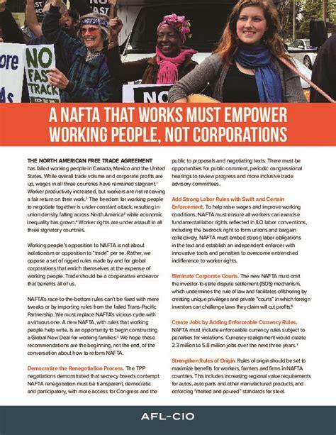 nafta  works  empower working people