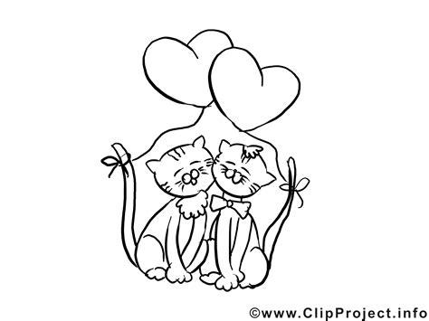 katzen valentinstag ausmalbilder fuer kinder kostenlos
