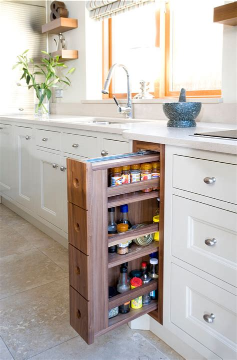 Narrow Pull Out Spice Rack by Planning A Small Kitchen Home Bunch Interior Design Ideas