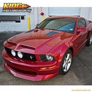 Fit For 2005 2009 Ford Mustang V8 GT 4.6L IKON Style Front Bumper Lip Chin Spoiler-in Bumpers ...