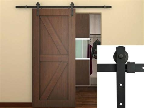 Sliding Closet Door Rails by 6ft Black Country Barn Wood Steel Sliding Door Hardware