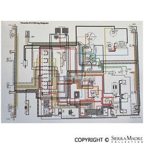 full color wiring diagram porsche 912 5 66 68 ebay