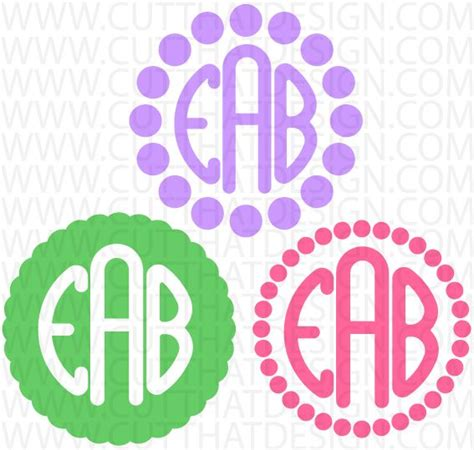 My resource library is open to anyone and is free! Free polka dot monogram frames SVG & DXF files from www ...