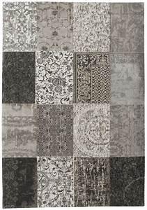 Teppich Schurwolle Grau : vintage teppich patchwork grau hellgrau schurwolle wolle ~ Indierocktalk.com Haus und Dekorationen