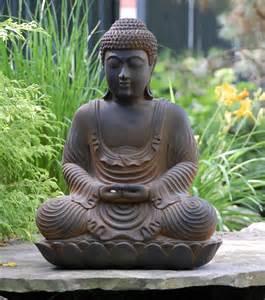 Meditating Buddha Garden Statue