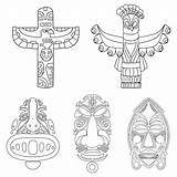 Totem Pole Coloring Pages Animal Printable Templates Template Animals Poles Bear Printablee sketch template