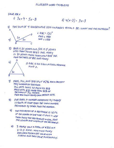 Algebra Word Problem Solving Help