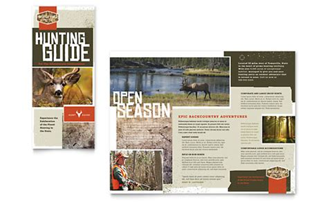 hunting guide business card letterhead template design