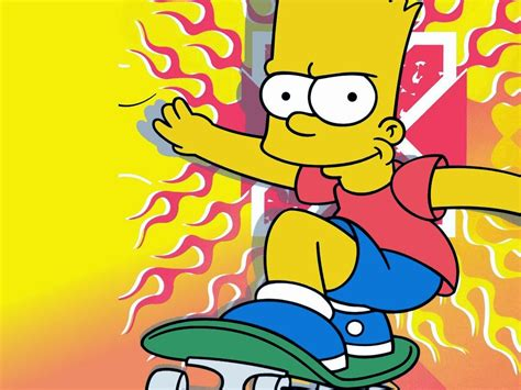 The Cartoon Funny Bart Simpson Animated Television Series