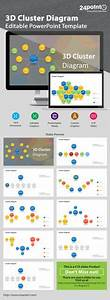 Editable Powerpoint Template - 3d-circles Stack
