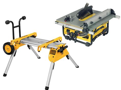 table saw with stand dewalt dw745rs 240v portable site saw with de7400 stand