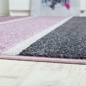Flur Teppich Grau : designer teppich hochwertig modern linien muster meliert zeitlos graustufen lila grau teppiche ~ Whattoseeinmadrid.com Haus und Dekorationen