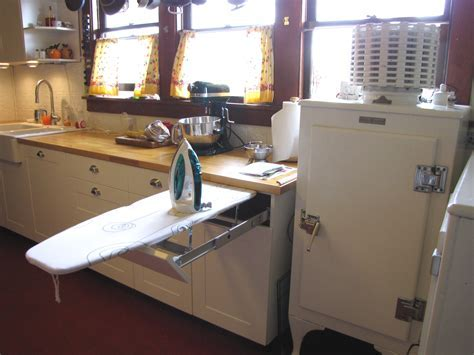 Built in ironing board in kitchen   Flickr   Photo Sharing!