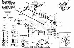 Poulan Gti19t Gas Trimmer Parts Diagram For Drive Shaft