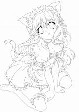 Coloring Neko Anime Pages Cat Chii Amu Moe Lines Printable Manga Getcolorings Sheets Getdrawings Deviantart sketch template