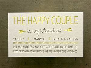 registry cards for wedding etiquettes to follow With wedding shower registry