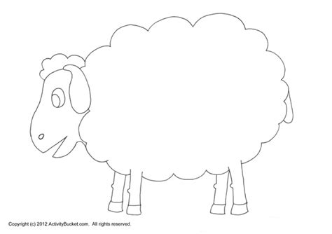 sheep template cotton crafts sheep and on sketch coloring page