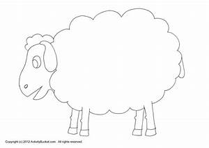 best photos of sheep craft patterns sheep cut out craft With cardboard sheep template