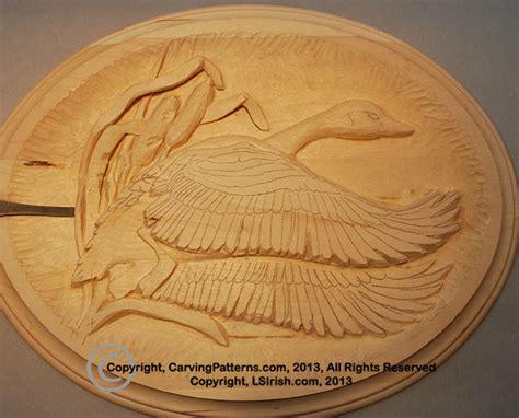 depth   relief wood carving canada goose