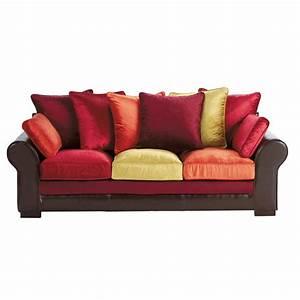 Sofa Aus Samt : sofa 3 sitzer aus spaltleder und samt bunt marco polo ~ Michelbontemps.com Haus und Dekorationen