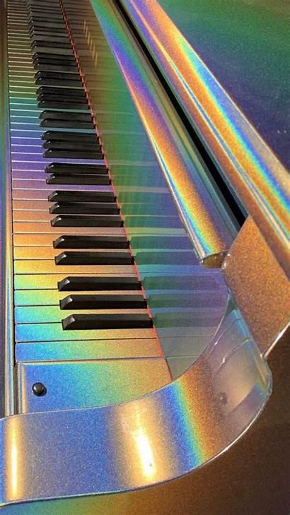 Aesthetic Piano Iphone Wallpapers Fondos Rainbow Retro