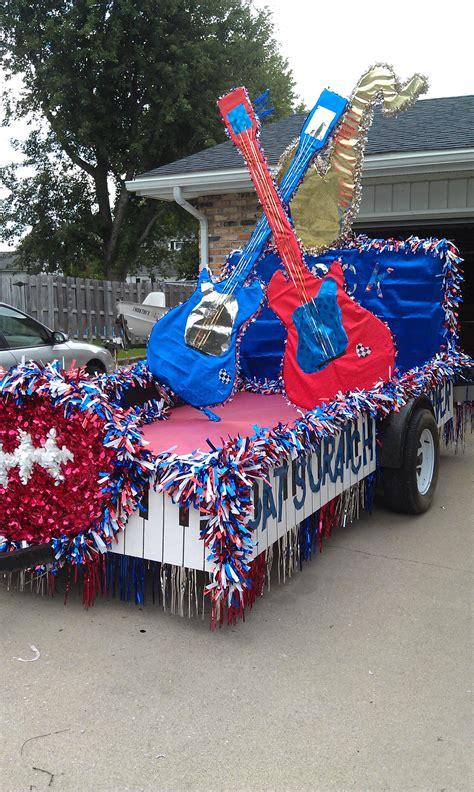 homecoming parade float panthers rock em floats