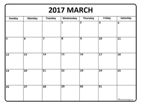 march calendar printable blank calendar printable