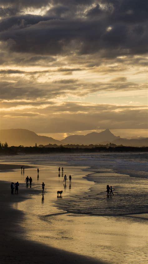papersco iphone wallpaper na sea sunset beach dawn