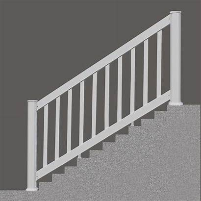 Stair Vinyl Rail Section Menards Railing Classic