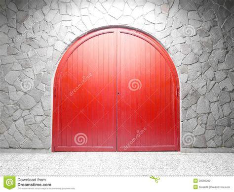 red arch door stock photo image  ancient exterior
