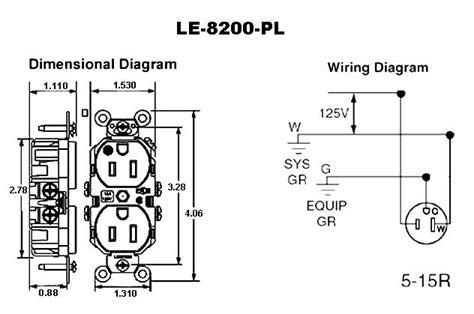 Duplex Outlet Wiring Diagram by Leviton Decora Hospital Grade Duplex Receptacles