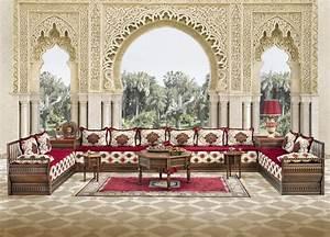 Salon Marocain Blanc : salon marocain blanc cass marron rouge et rose indien ~ Nature-et-papiers.com Idées de Décoration