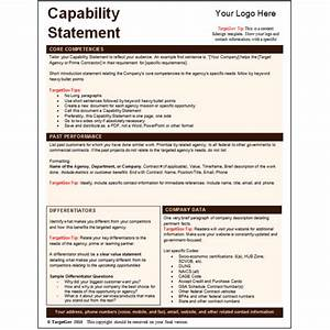 capability statement for federal related keywords With capabilities statement template