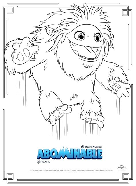 abominable coloring pages getcoloringpagescom