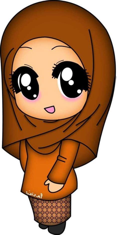 300+ Gambar Kartun Muslimah Bercadar, Cantik, Sedih, Keren
