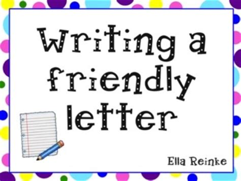 writing  friendly letter powerpoint classroom pinterest