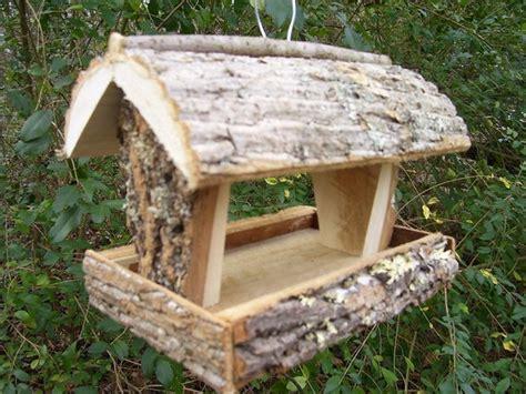rustic bird feeder squirrel feeder handmade