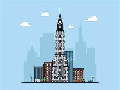 Building York Office 3d Dribbble Chrysler Usa