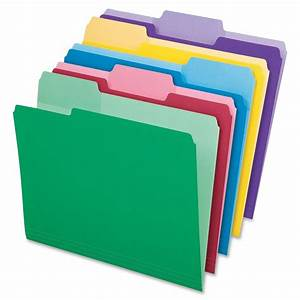 File Folder With Erasable Tabs