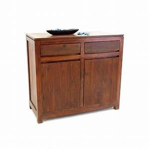Meuble Bas Sejour : bahut bas sikasso palissandre meuble bois exotique ~ Teatrodelosmanantiales.com Idées de Décoration