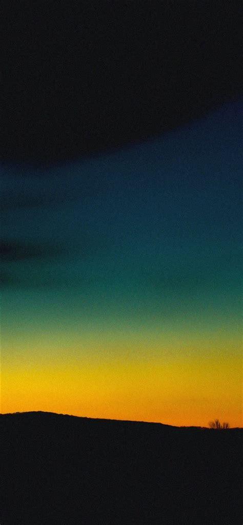 Orange Sky Wallpaper Iphone by Orange Green Sky Sunset Nature Iphone X Free