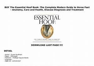 Buy The Essential Hoof Book  The Complete Modern Guide To
