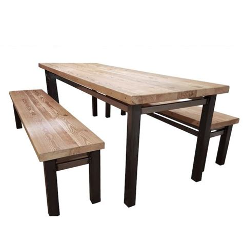 industrial dining table reclaimed wood table modish living